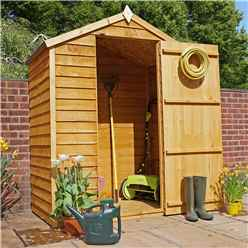 INSTALLED 3 x 5 Overlap Windowless Apex Shed With Single Door (10mm Solid OSB Floor) - INCLUDES INSTALLATION