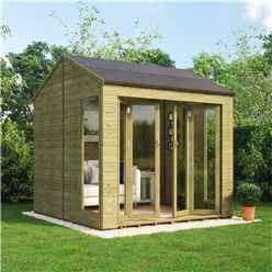 8ft x 10ft Pressure Treated Cannes Tongue and Groove Summerhouse