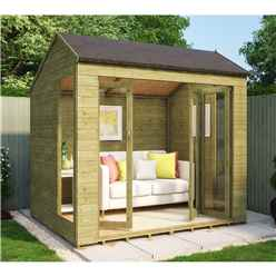 6ft x 8ft Monte Carlo Pressure Treated Tongue and Groove Summerhouse