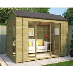 6ft x 10ft Monte Carlo Pressure Treated Tongue and Groove Summerhouse