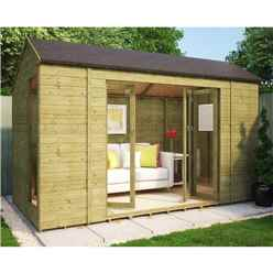 6ft x 12ft Monte Carlo Pressure Treated Tongue and Groove Summerhouse