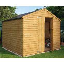 8ft x 8ft Loglap Windowless Shed with  Double Doors