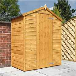 3 x 5 Wooden Windowless Tongue and Groove Apex Shed With Single Door (10mm Solid OSB Floor)