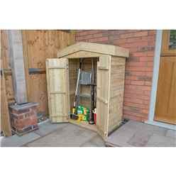 INSTALLED Apex Garden Store - Pressure Treated (1.1m x 0.5m) - INCLUDES INSTALLATION