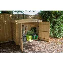 INSTALLED Apex Large Outdoor Store - Pressure Treated (2m x 0.8m) - INCLUDES INSTALLATION