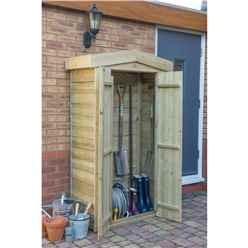 INSTALLED Apex Tall Garden Store - Pressure Treated (1.1m x 0.5m) - INCLUDES INSTALLATION