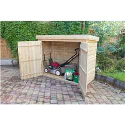 "INSTALLED - 2'8"" x 6'3"" Pent Large Outdoor Store - Pressure Treated - INCLUDES INSTALLATION"