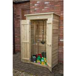 Installed - Pent Tall Garden Store - Pressure Treated - Includes Installation