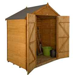 6 x 4 Overlap Dip Treated Apex Shed - Double Doors