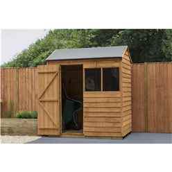 INSTALLED 4 x 6 Reverse Overlap Apex Shed - Dip Treated (1.3m x 1.8m) - Modular - INCLUDES INSTALLATION - CORE