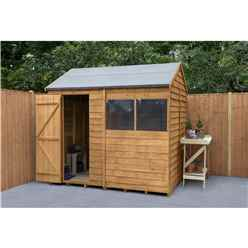 INSTALLED 6ft x 8ft Reverse Overlap Apex Shed - Dip Treated (1.9m x 2.4m) INCLUDES INSTALLATION