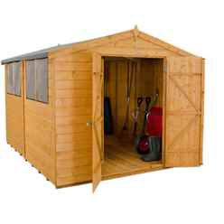 10 x 8 Dip Treated Shiplap Workshop - Double Doors (3.1m x 2.5m)
