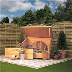 "INSTALLED Tongue and Groove Garden Chest 4'6"" x 2'11"" (1380mm x 900mm) INCLUDES INSTALLATION"