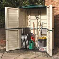 INSTALLED 5 x 3 Plastic Tall Shed (1510mm x 830mm) INCLUDES INSTALLATION