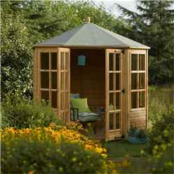 INSTALLED 8 x 8 Octagonal Summerhouse (12mm Tongue and Groove Floor) INCLUDES INSTALLATION