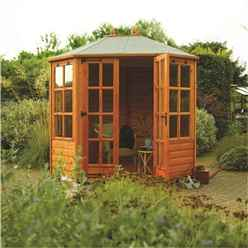 INSTALLED 8 x 6 Octagonal Summerhouse (12mm Tongue and Groove Floor) INCLUDES INSTALLATION