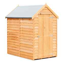 ** FLASH REDUCTION** 6 x 4 (1.83m x 1.20m) - Super Value Overlap - Apex Wooden Garden - Windowless - Single Door - 10mm Solid OSB Floor