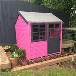 INSTALLED - 4 x 4 (1.19m x 1.19m) -  Playhouse - Opening Window - Single Door INSTALLATION INCLUDED