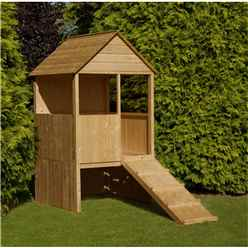 INSTALLED 4 x 4 (1.20m x 1.20m) Raised Lookout Playhouse