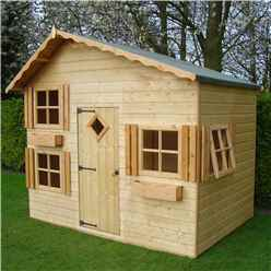 INSTALLED 8 x 6 (2.40m x 1.76m) -  Upstairs Downstairs Playhouse INSTALLATION INCLUDED