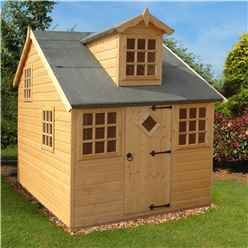 INSTALLED 6 x 8 (2.39m x 1.79m) - Cottage Playhouse - Tongue And Groove