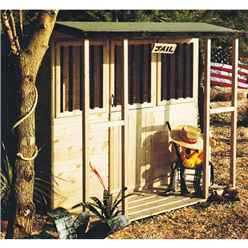 INSTALLED 6 x 4 Jail House Playhouse (Tongue And Groove)