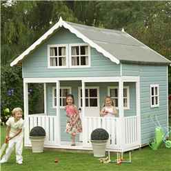 INSTALLED 8 x 9 (2.69m x 2.39m) Lodge Playhouse - Tongue And Groove