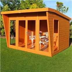 INSTALLED 10 x 8 (3.06m x 2.39m) -  Premier Wooden Summerhouse - Double Doors - 12mm T&G Walls & Floor