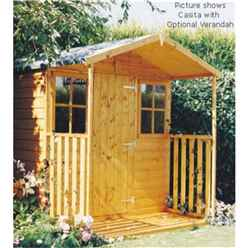 INSTALLED 7 x 7 Tongue And Groove Apex Garden Shed + Extra Veranda (12mm Tongue And Groove Floor) (7ft x 9ft with verandah)