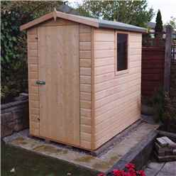 6 x 4 (1.79m x 1.19m) - Tongue And Groove -  Apex Workshop - 2 Windows - Single Door - 12mm Tongue And Groove Floor and Roof
