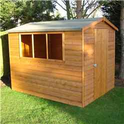 8 x 6 (2.39m x 1.79m) - Tongue And Groove - Apex Workshop - 2 Windows - Single Door - 12mm Tongue And Groove Floor and Roof