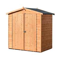 4 x 6 Apex Tongue And Groove Shed - 3 Windows - Single Door (12mm Tongue And Groove Floor)