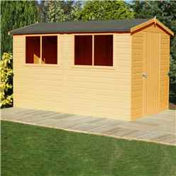 12 x 8 (3.59m x 2.39m) - Tongue And Groove - Wooden Apex Workshop - 12mm Tongue And Groove Floor and Roof