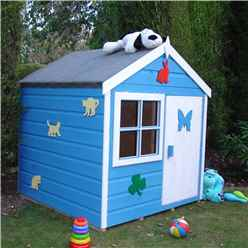 4 x 4 (1.12m x 1.19m) - Wooden Playhut Playhouse