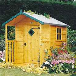 4 x 4 (1.19m x 1.19m) - Wooden Hide Playhouse
