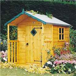 INSTALLED 4 x 4 Wooden Hide Playhouse