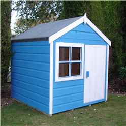 INSTALLED 4 x 4 Wooden Playhut Playhouse