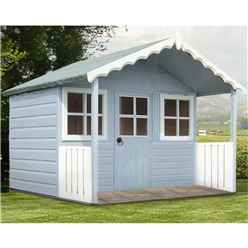 ** IN STOCK LIVE BOOKING ** 6 X 4 (1.79m X 1.19m) - Wooden Stork Playhouse