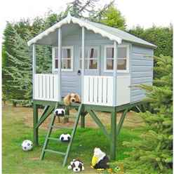 INSTALLED 6 x 4 Wooden Stork Playhouse With Platform