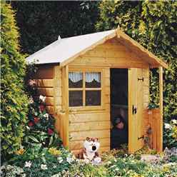 INSTALLED 5 x 4 Wooden Club Playhouse