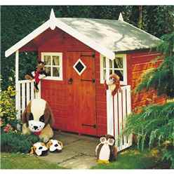 6 x 4 (1.78m x 1.72m) - Wooden Hobby Playhouse