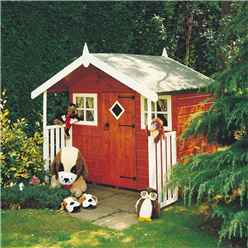 INSTALLED 6 x 4 Wooden Hobby Playhouse INSTALLATION INCLUDED