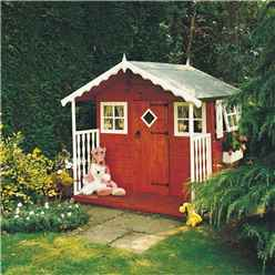 INSTALLED 6 x 6 Wooden Den Playhouse