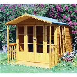 10 X 7 (2.97m X 2.05m) - Premier Wooden Summerhouse - Optional Veranda - 12mm T&g Walls - Floor - Roof