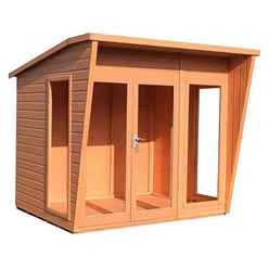 INSTALLED 8 x 6 (2.29m x 1.79m) - Premier Wooden Summerhouse - 12mm T&G Walls & Floor  INSTALLATION INCLUDED