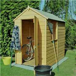 6 X 4 (1.82m X 1.2m) - Pressure Treated Tongue And Groove - Apex Garden Shed / Workshop - 1 Window - Single Door - 10mm Solid Osb Floor