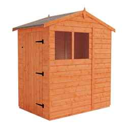 4 x 6 (1.23m x 1.75m) West Riding Tongue and Groove Apex Shed with 2 Windows (12mm Tongue and Groove Floor and Roof)