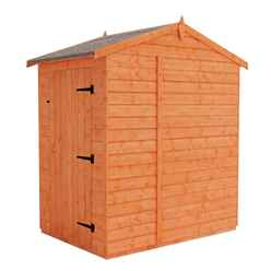 4 x 6 (1.23m x 1.75m) West Riding Windowless Tongue and Groove Apex Shed (12mm Tongue and Groove Floor and Roof)