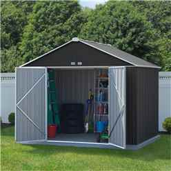 8 x 10 (2.18m x 2.99m) Double Door Galvanised Steel Metal Shed