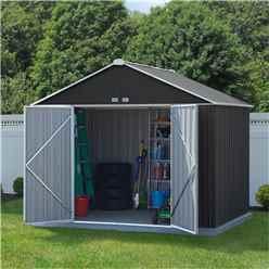 8 x 10 (2.18m x 2.99m) Double Door Galvanised Steel Metal Shed
